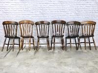 Matched Set of 6 Windsor Slatback Kitchen Chairs (5 of 8)