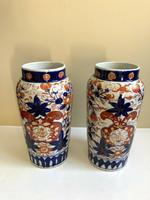 Stunning Pair Of Japanese Imari Vases, Meiji Period Antique (2 of 10)