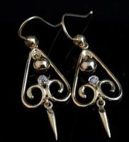 Antique Victorian Diamond Drop Earrings, 15ct Gold (5 of 10)