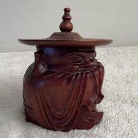 Hardwood Carved Tobacco Box (3 of 3)