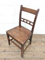 Harlequin Set of 19th Century Welsh Oak Ball & Rail Back Chairs (9 of 11)