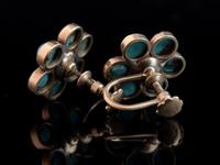 Antique Turquoise & Pearl Flower Earrings, 9ct Gold (13 of 13)