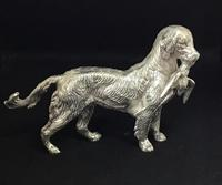 Vintage Silver Plated Gun Dog (4 of 4)