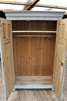 Fabulous Old Pine & Grey Painted Wardrobe / Hall / Kitchen Cupboard - We Deliver! (9 of 12)