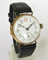 Gents 9ct gold trench watch, 1914 (2 of 6)