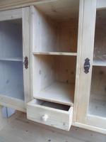 Victorian Octagonal Antique Pine Large Kitchen Dresser to wax /paint (7 of 10)