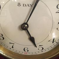 Faux Tortoiseshell Art Deco Mantel Clock (7 of 7)