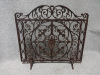 Scrolled Wrought Iron Fire Guard