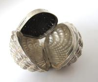 Stunning Victorian Silver Novelty Clam Shell Nutmeg Grater Hilliard & Thomason Birmingham 1874 (5 of 11)