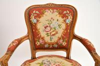 Pair of Antique French Tapestry Salon Armchairs (4 of 10)