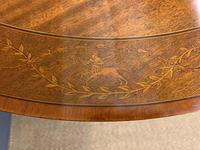 "Inlaid Mahogany ""Zodiac"" Drum Table by Jas Shoolbred (6 of 20)"