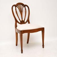 Set of 6 Antique Mahogany Sheraton Style Dining Chairs (5 of 9)