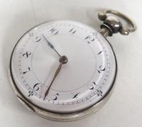 Antique Silver Pair of Case Pocket Watch Fusee Verge Escapement Key Wind Enamel Dial Thomas Cooker Oakham (3 of 12)