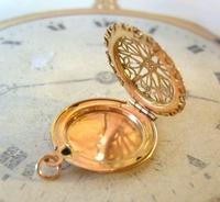 Vintage Pocket Watch Chain Vinaigrette Fob 1950s Victorian Revival Rose Gilt Fob (3 of 11)