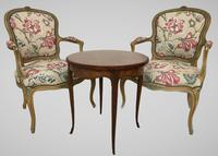 French Roll End Style Double Bed Frame With Matching Armchairs & Side Table (4 of 17)