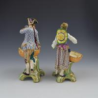Fine Pair Minton Porcelain Sweetmeat Figures with Baskets Models 84 & 85 c.1830 (5 of 23)