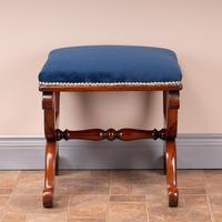 Good Quality 19th Century X-framed Rosewood Stool (7 of 10)