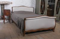 Newly Upholstered King Size Sleigh Bed