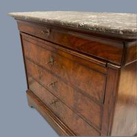French Marble Top Commode with Writing Surface (9 of 9)