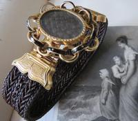 15ct Gold Mourning Hair Bracelet Champleve Enamel (4 of 5)