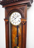 Wow! Antique German Single Weight Walnut 8-Day Vienna Regulator Wall Clock (8 of 11)