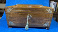 William IV Rosewood Jewellery Box with Inlays (4 of 12)
