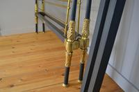 Rare Antique Victorian R.W Winfield 5ft King Size Brass & Iron Sleigh Bed (9 of 21)