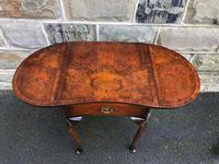 Antique Burr Walnut Drop Flap Side Table (4 of 9)