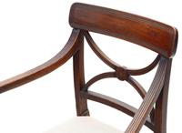 Pair of Regency Elbow, Carver or Desk Chairs c.1820 X Back (6 of 8)