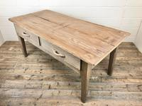 Early 20th Century Antique Oak & Pine Work Table (6 of 15)