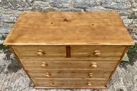 Antique Pine Chest of Drawers (7 of 17)