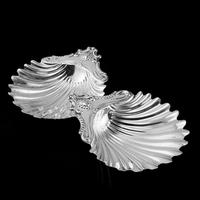 Antique Victorian Solid Silver Pair of Butter Dishes, Shell Design - Josiah Williams & Co 1894 (2 of 13)