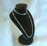 """Vintage Silver Necklace 1970s Figaro Link 925 Solid Silver 19"""" Length (4 of 11)"""