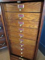 Edwardian Oak Tambour Front Filing Cabinet (3 of 8)