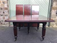 Antique Mahogany 3 Leaf Extending Dining Table (2 of 12)