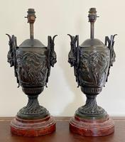 Magnificent Pair of Heavy Bronze Lamps (2 of 11)