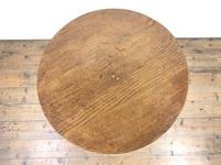 19th Century Oak Circular Tilt Top Tripod Table (6 of 12)