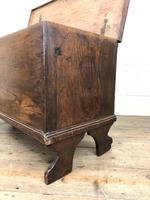 Small 18th Century Antique Elm Six Plank Coffer Chest (10 of 11)