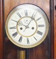 Great Antique German Twin Walnut 8-Day Mantel Clock Vienna Striking Wall Clock (4 of 11)