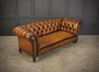 Victorian Hand Dyed Leather Drop End Chesterfield Sofa (3 of 20)