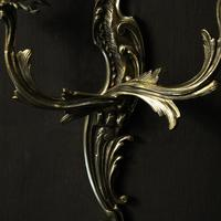 French Pair Of Twin Arm Antique Wall Lights (9 of 10)