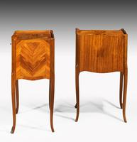 Pair of Late 19th Century Kingwood & Marquetry Night Cabinets (2 of 5)
