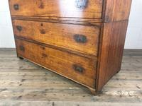 Antique 19th Century Oak Campaign Chest with Cupboard (13 of 17)