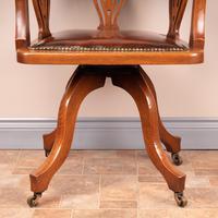Oak Revolving Office Desk Chair (10 of 10)