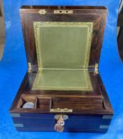 Victorian Brassbound Rosewood Writing Slope (18 of 20)