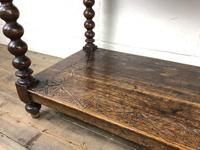 Victorian Gothic Oak Side Table with Green Man Details (5 of 17)