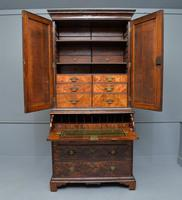 Early 18th Century Walnut Secretaire Writing Cabinet (4 of 31)
