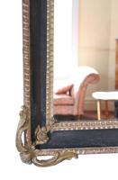 Large Gilt and Black 19th Century Overmantle or Wall Mirror (5 of 8)