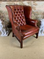 Georgian Style Leather Wingback Armchair (4 of 5)