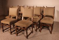 Set Of 10 Louis XIII Style Chairs In Walnut (9 of 11)